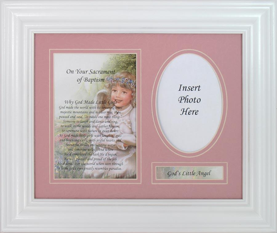 Why God Made Little Girls Baptism Plaque #MFS-BAP-AWB