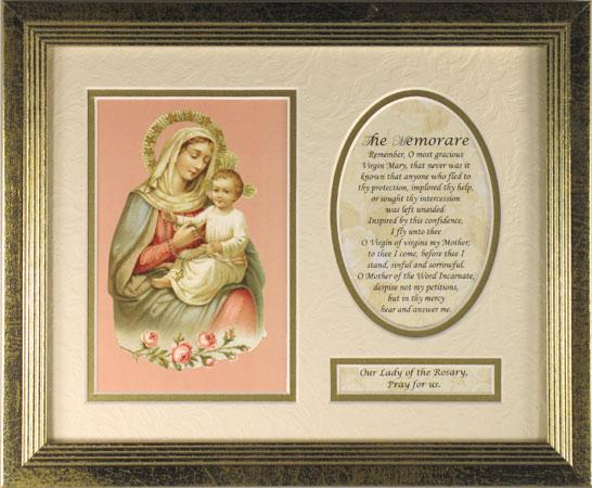 Our Lady of the Rosary Plaque MFS-G-OLRb