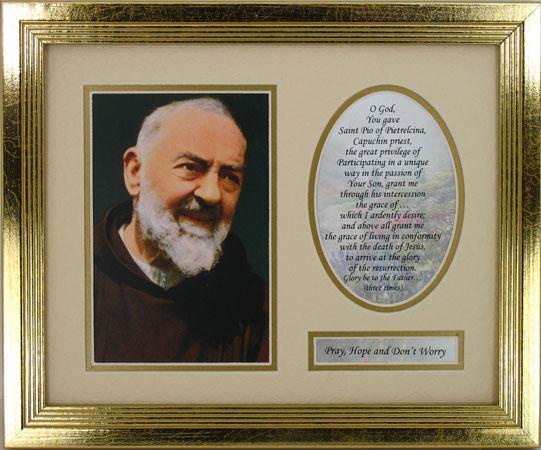 Padre Pio Plaque 8x10 MFS-PP