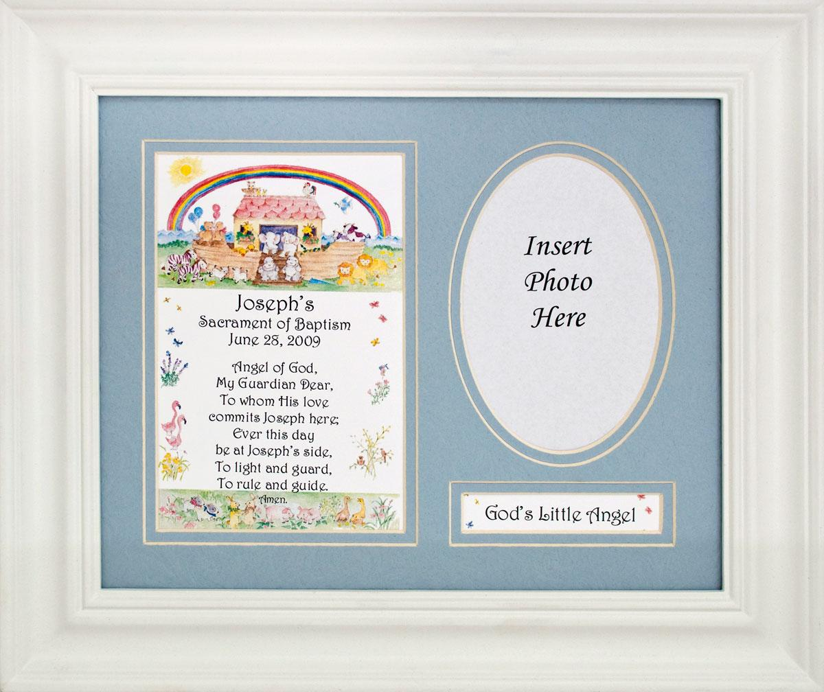 Personalized Baptismal Plaque Boy #MFS-NARKB-P