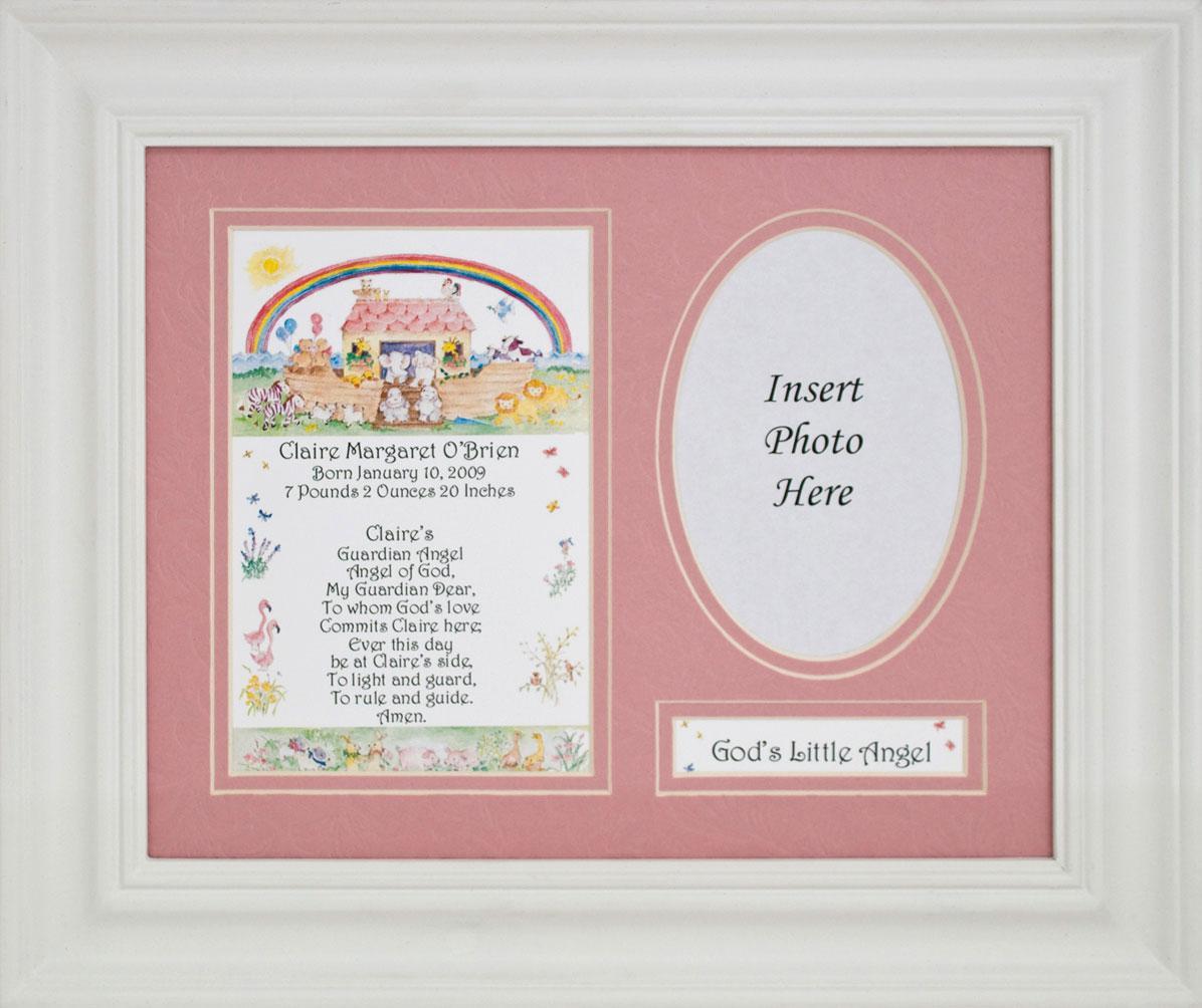 Personalized Newborn Baby Girl plaque MFS-NBG-P