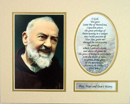 Padre Pio 8x10 Ready to frame Mat  #810M-PP