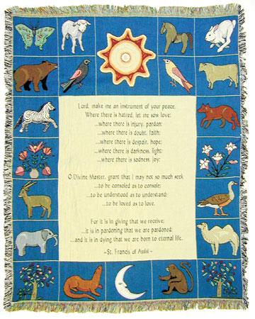 Prayer to St Francis Blanket #COV-PSTF