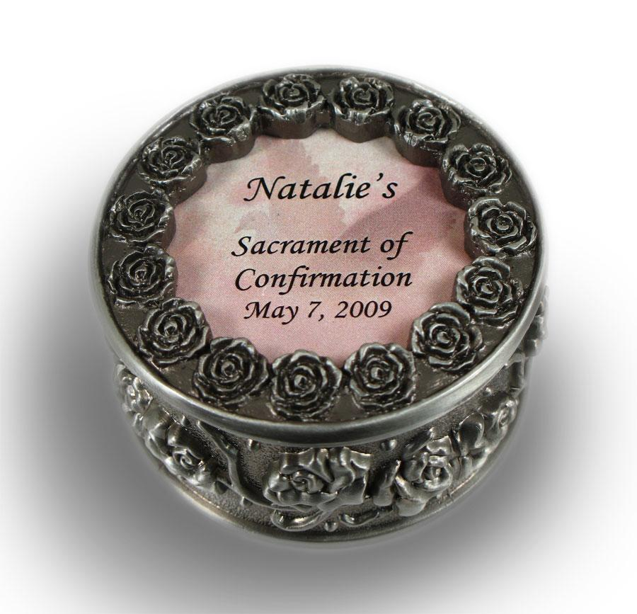 Personalized Confirmation Rosary Box  #PRBX-SC2-P