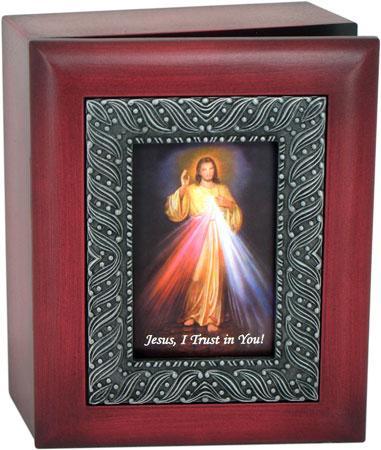 The Divine Mercy 4x5 Keepsake Box SJBX-DM