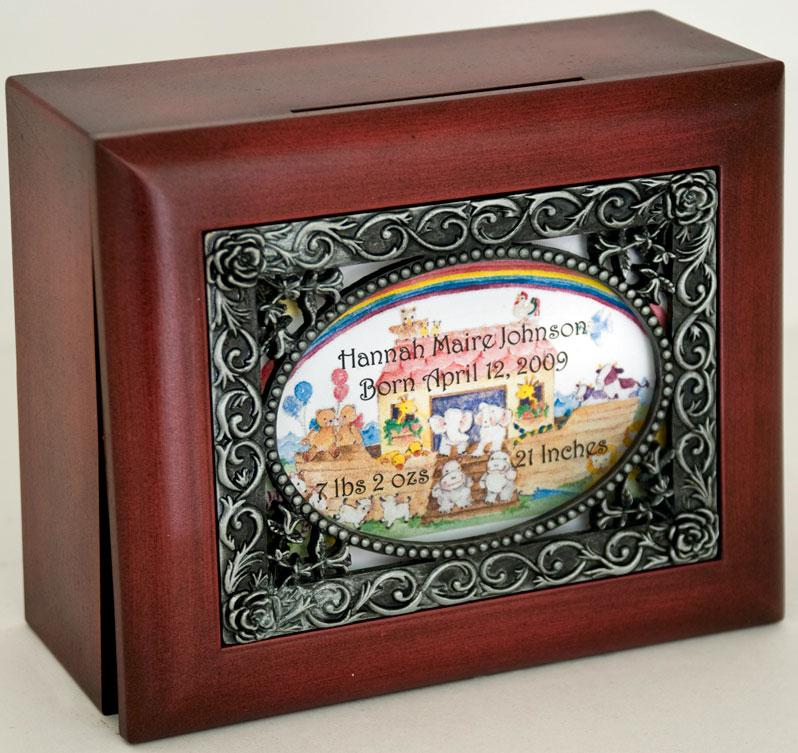 Personalized Baptismal Keepsake Box #SJBX-BAP3-P
