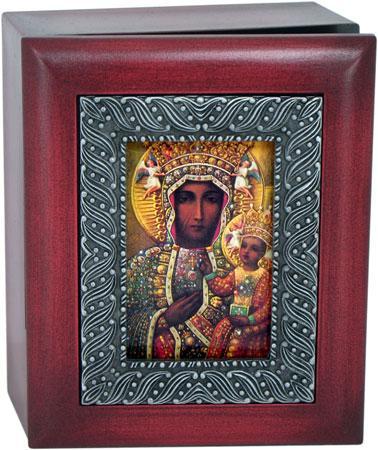 Our Lady Czestochowa 4x5 Keepsake box SJBX-OLCz