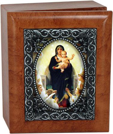 Queen of Angels 4x5 Keepsake box SJBX-QA