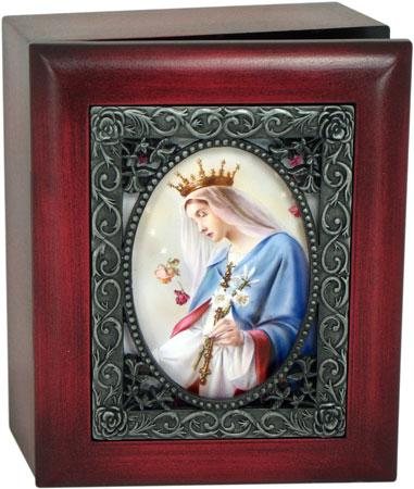 Queen of Heaven 4x5 Keepsake Box SJBX-QH1