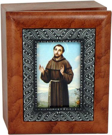 Saint Francis 4x5 Keepsake Box SJBX-STF