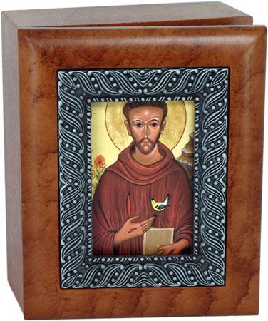 Saint Francis 4x5 Keepsake Box SJBX-STF(I)