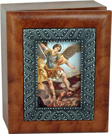 Saint Michael 4x5 Keepsake Box SJBX-STM2