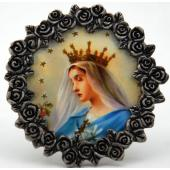 Queen of Heaven Mini Pewter Frame #MPF-QH1