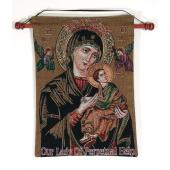 Perpetual Help 13x18 Tapestry Wall Hanging #1318-PH