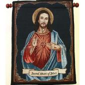 Sacred Heart 13x18 Tapestry Wall Hanging 1318-SHJ