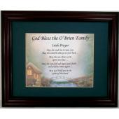 Personalized Irish Prayer Plaque #14MF-IP-P