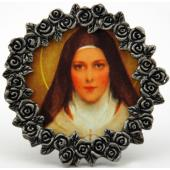St Therese Mini Pewter Frame #MPF-STT