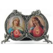 Sacred Heart Immaculate Heart Desk Ornament #2302