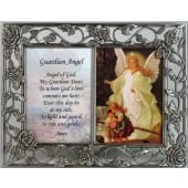 Guardian Angel Pewter Frame with prayer #23DPF-GA