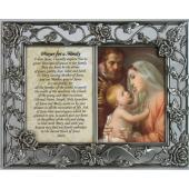 Holy Family Pewter Frame with prayer #23DPF-HF