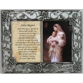L'Innocence  Double Rose Pewter Frame with prayer #23DPF-IN