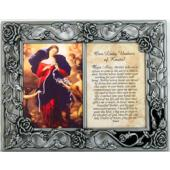 Our Lady Undoer of Knots Pewter Frame #23DPF-OLK