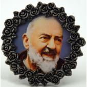 St. Pio Mini  Pewter Frame #MPF-PP