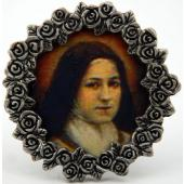 St Therese Mini  Pewter Frame #MPF-STTD