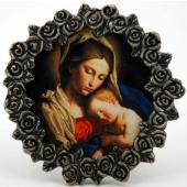 Madonna and Child Pewter Frame #MPF-MC(b)