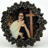 St Therese Mini  Pewter Frame #MPF-STT(b/w)