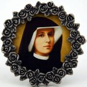 St Faustina Mini  Pewter Frame #MPF-BF