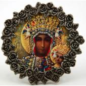 Our Lady of Czestochowa Pewter Frame MPF-OLCz