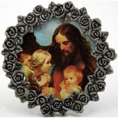 Jesus with the Children Pewter Frame #MPF-JWC
