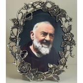 Padre Pio Pewter Frame #35OPF-PP