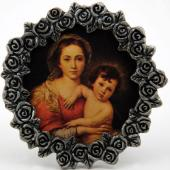 Madonna and Child Mini  Pewter Frame #MPF-MC(r)