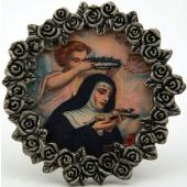 St. Rita of Cascia Mini  Pewter Frame #MPF-STR