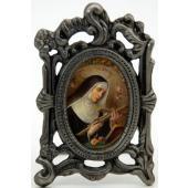 St. Rita of Cascia Pewter Frame #MOPF-STR2