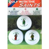 3 Saints Golf Balls #GB-3ST