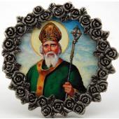 St. Patrick Mini  Pewter Frame #MPF-STP