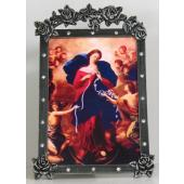 Our Lady Undoer of Knots4x6 Pewter Frame #46PF-OLK