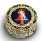 The Divine Mercy Gold Rosary box #489-DM
