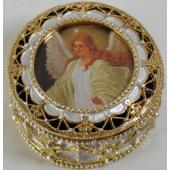 Guardian Angel Gold Rosary Box #489-GA