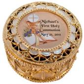 Personalized Communion Rosary Box 489-HC10P