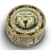 First Communion Rosary Box 498-HC3