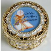 First Communion Rosary Box #498-HC8