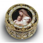 L'Innocence Gold Rosary Box #489-IN