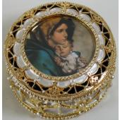 Madonna of the Streets Gold Rosary Box #489-MS