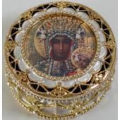 O.L. Czestochowa Gold Rosary Box #489-OLCz