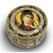 Perpetual Help Gold Rosary box #489-PH