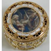 Song of Angels Gold Rosary Box #489-SA